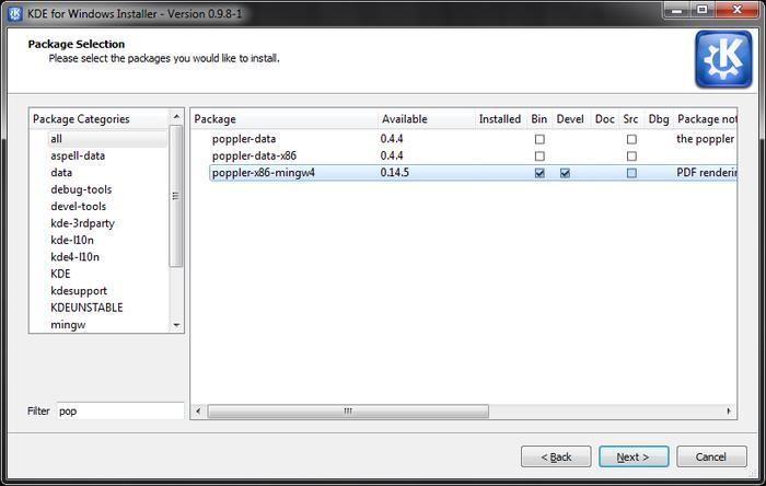 KDE Install